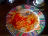 Empty Plate of Spaghetti