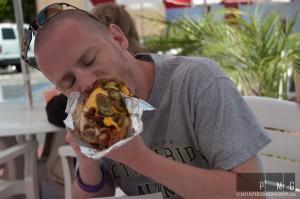 Jesse chowing