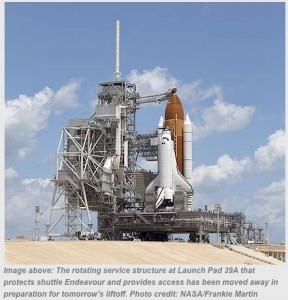 STS-134 launchpad