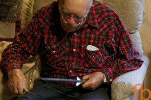 Grandpa sharpening 2011