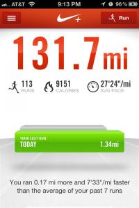 Nike+ 131.7 Miles